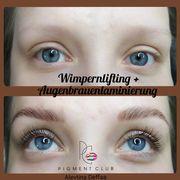 Augenbrauenlaminierung Lifting mit Keratin und