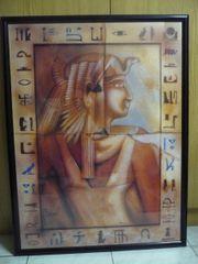 Wandbild Pharao Ägypten gerahmt