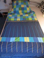 Jersey Bettwäsche Komfortgröße 155x220 blau