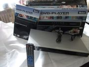 TEVION DVD-Player silber mit Fernbedienung