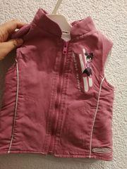 Weste Mädchen rosa Gr 86