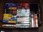 75 Stück-VHS-Kassetten Videokassetten und Originale