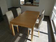 ausziehbarer Esstisch mit 4 Stühlen -