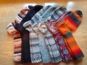 hochwertige handgestrickte Woll-Strümpfe Bio-Wolle