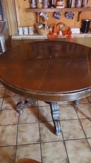 Holztisch rund Vintage