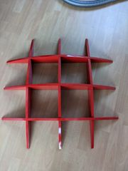 Wandregal Bücherregal rot 80x80