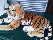 Neuwertiger großer Plüschtiger Riesen-Tiger StofftigerStofftier