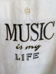 MUSIC IS MY LIFE Bluse