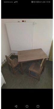 Kindertisch mit Stühlen braungrau NEUw