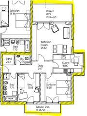 3-Zimmer-Wohnung in Fürstenfeldbruck neuwertig und