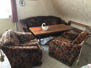 Stilvolle Wohnimmer Sitzgarnitur 3er Sofa