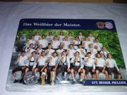 Blechschild Paulaner- 1FC Bayern München