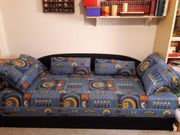 Schlafsofa ausziehbar mit Bettkasten