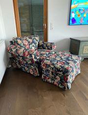 Sessel mit Hocker wie neu