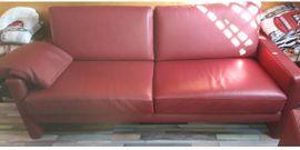 3-Sitzer Ledersofa mit Sessel: Kleinanzeigen aus Worms - Rubrik Polster, Sessel, Couch