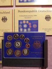 5 x DM Kursmünzensatz DEUTSCHLAND