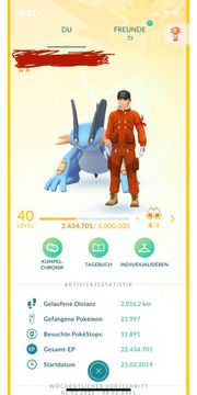 Pokemon Go Account Level 40