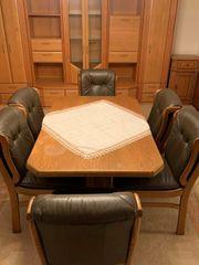 6 Stühle Eiche rustikal mit