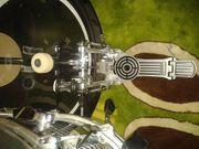 Premier Drumset weiß komplett mit