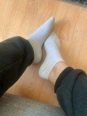 Socken getragene Slips Tangas