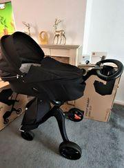 Stokke Xplory V6 schwarzer Kinderwagen