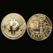 Schöne Bitcoin Sammler Medaille vergoldete
