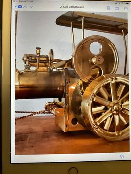Bild 4 - Dampfwalze Dampfmaschine aus Messing Old - Otterstadt