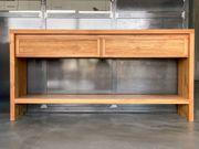 Massivholz Sideboard - gebürstet - mit ganz