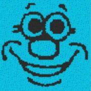 Vorlage für Ministeck Smiley21 40x40cm