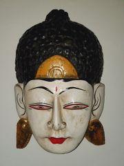 Antik Schöne große Bhudda Maske