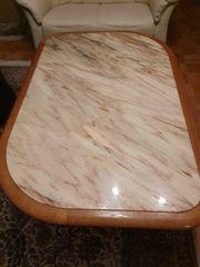 Höhenverstellbarer Couchtisch Wohnzimmertisch mit Marmorplatte