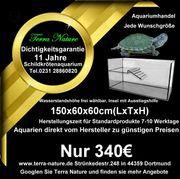 Schildkrötenaquarium mit Insel 150x60x60 cm