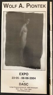 Erotisches Ausstellungs Plakat Fotoausstellung Wolf