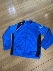 Blaue Puma Sweatshirt Trainingsjacke Größe