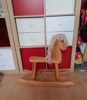 holz Spielzeug Holzspielzeug Schaukelpferd Pferd