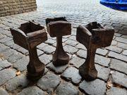3 Holz Deko Ständer
