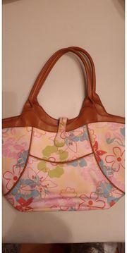 Stofftasche bunt zum wenden pink