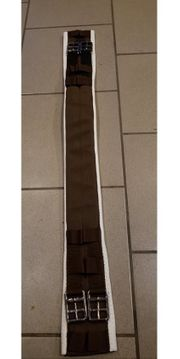 Sattelgurt 80 cm weiß braun