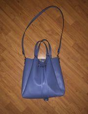 Bucketbag Beuteltasche H M blau