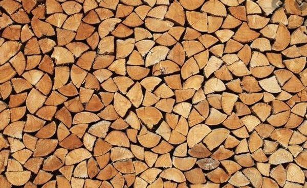 Brennholz Hartholz Ofenfertig Gespalten Getrocknet