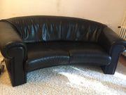 Sofa Leder schwarz 1 70