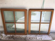 1 Holzfenster zweiflügelig mit Sprossen - gebraucht