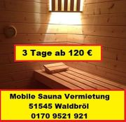 Saunaverleih NRW Oberberg - Waldbröl - Gummersbach - Wiehl