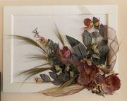 Exklusives Bild mit Rahmen-Blumenmotiv