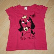Mädchen Kurzarm T-Shirt Hund Kinder