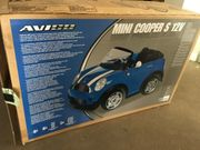 Kinder Elektroauto Mini Cooper blau 2