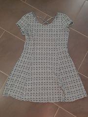 Kleid Gr 36 S schwarz-weiss