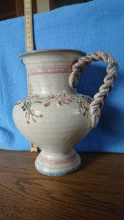 Keramik Vase Ainring blau rose