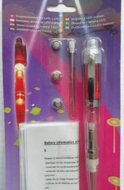 Kugelschreiber mit LED Licht Batterien