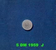 Münze 5 DM Silbermünze 1959